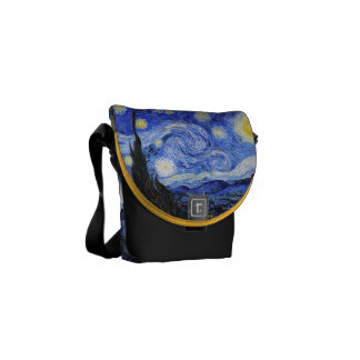 Starry Night by Vincent Van Gogh Commuter Bags