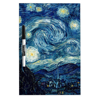 Starry Night By Vincent Van Gogh Dry Erase White Board