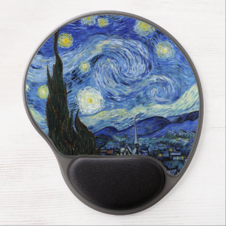 Starry Night by Vincent van Gogh Gel Mouse Pad