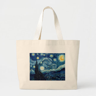 Starry Night By Vincent Van Gogh Large Tote Bag