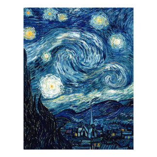 Starry Night By Vincent Van Gogh Letterhead
