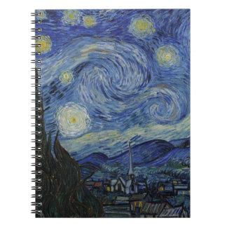 Starry Night by Vincent van Gogh Spiral Notebook
