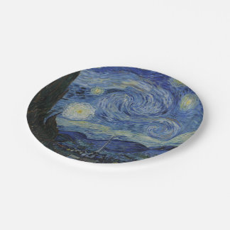 Starry Night by Vincent Van Gogh Paper Plate