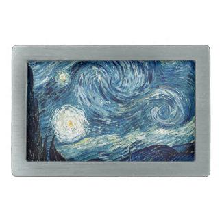 Starry Night By Vincent Van Gogh Rectangular Belt Buckles