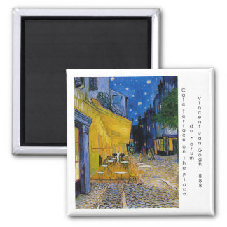 Starry Night by Vincent van Gogh Square Magnet