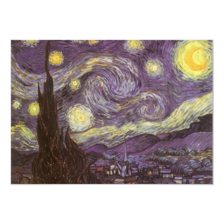 Starry Night by Vincent van Gogh, Vintage Fine Art Card