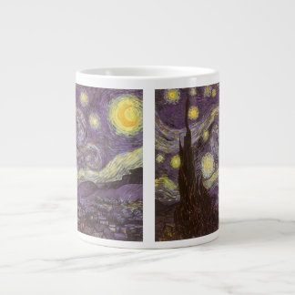 Starry Night by Vincent van Gogh, Vintage Fine Art Large Coffee Mug