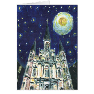 Starry Night Cathedral Card