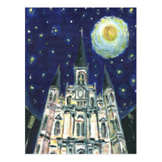 Starry Night Cathedral Postcard