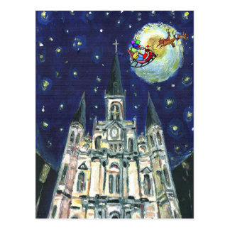 Starry Night Cathedral, santasleigh Postcard