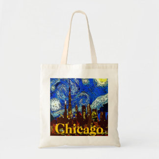 Starry Night Chicago Tote Bag