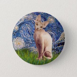 Starry Night - Cream Sphynx Cat 2 Inch Round Button