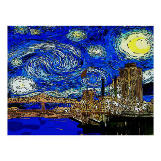 Starry Night Crescent City Poster