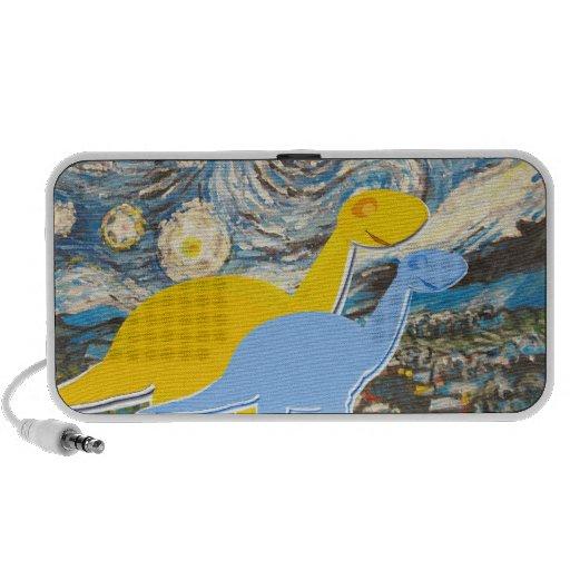 Starry Night Dinosaurs Portable Speaker