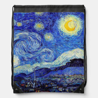 Starry Night Drawstring Bag