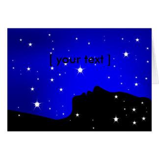 Starry Night Dreamer Greeting Card