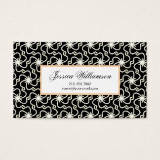 Starry Night Elegant Art Deco Starburst Pattern Business Card