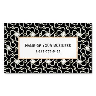 Starry Night Elegant Art Deco Starburst Pattern Magnetic Business Card