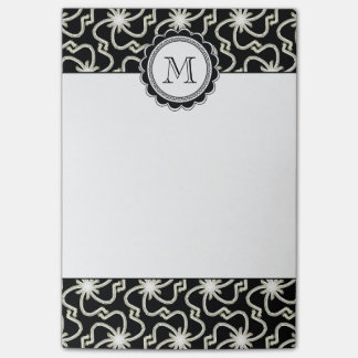 Starry Night Elegant Art Deco Starburst Pattern Post-it® Notes