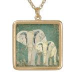 Starry Night Elephants Necklace