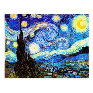 Starry Night (F612) Van Gogh Fine Art Postcard