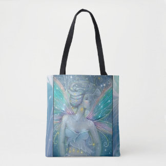 Starry Night Fairy Fantasy Art by Molly Harrison Tote Bag