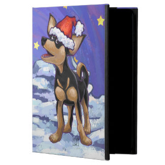 Starry Night Festive Chihuhua in Santa Hat Cover For iPad Air