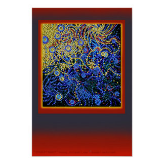 """"""" STARRY NIGHT """" floating__by: Robert Singletary Poster"""