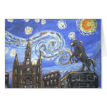 Starry Night French Quarter Greeting Card