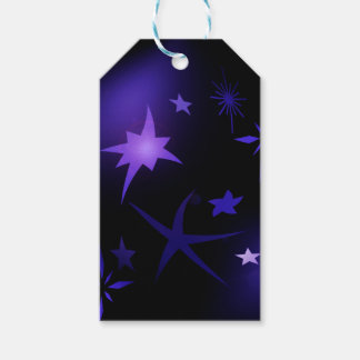 Starry night gift tag