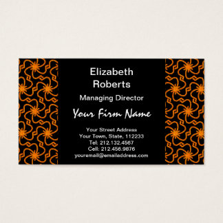 Starry Night Golden Starburst Art Deco Business Card
