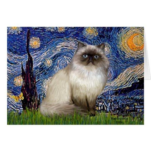 Starry Night - Himalayan cat 7 Cards