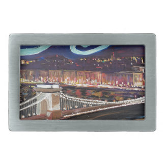Starry Night in Budapest Hungary with Parliament Belt Buckle