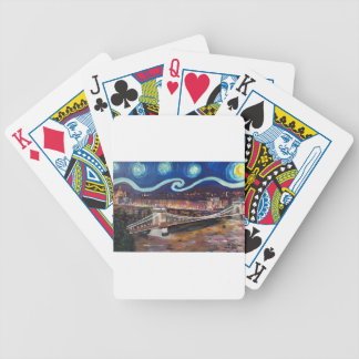 Starry Night in Budapest Hungary with Parliament Poker Deck