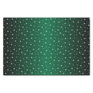 Starry Night in Dark Green Tissue Paper