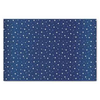 Starry Night in Gradient Navy Blue Tissue Paper