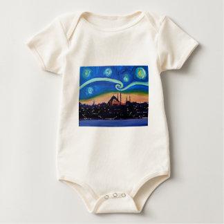 Starry Night in Istanbul Turkey Baby Bodysuit