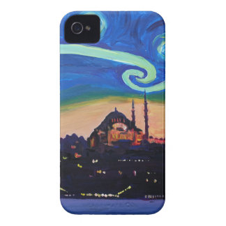 Starry Night in Istanbul Turkey iPhone 4 Covers