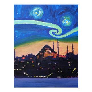 Starry Night in Istanbul Turkey Letterhead