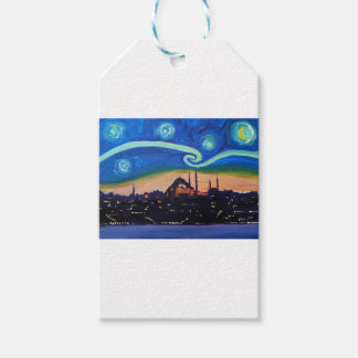 Starry Night in Istanbul Turkey Pack Of Gift Tags