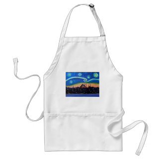 Starry Night in Istanbul Turkey Standard Apron