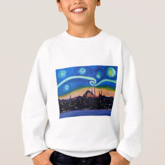 Starry Night in Istanbul Turkey Sweatshirt