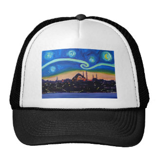 Starry Night in Istanbul Turkey Trucker Hat