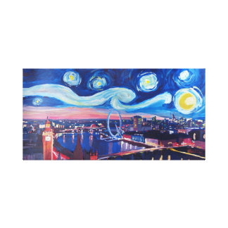 Starry night in London Canvas Print