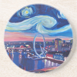 Starry night in London Coaster