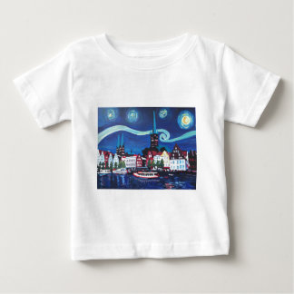 Starry Night in Luebeck Germany Baby T-Shirt