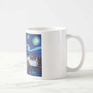 Starry Night in Luebeck Germany Coffee Mug