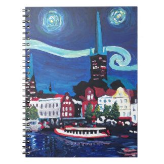 Starry Night in Luebeck Germany Notebook