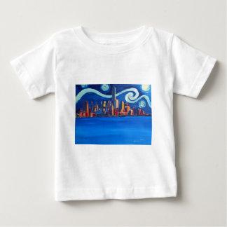 Starry Night in New York City - Freedom Tower Baby T-Shirt