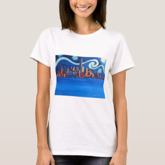 Starry Night in New York City - Freedom Tower T-Shirt